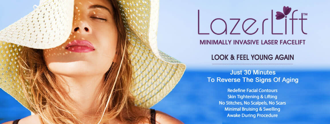 LazerLift™ minimally invasive laser facelift. Just 30 minutes to reverse the signs of aging.